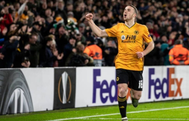 Jubilant Jota hits treble for Wolves in Europa League