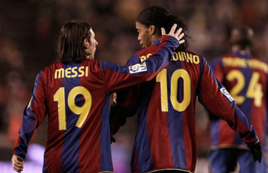 Ronaldinho's career at Barcelona owes much to Edgar Davids