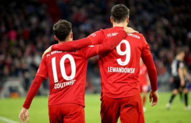 Bundesliga Top Five, Round 15: Coutinho lights up the Allianz Arena