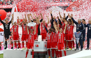 Bayern Munich win fifth successive German title - Bundesliga in 2016-17