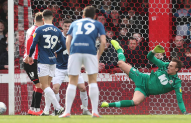 Goalkeeping assist for Blackburn's Christian Walton who is the Championsip Player of the Week